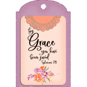Purple & Orange Grace Tag
