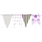 Purple Green Stitched Banner