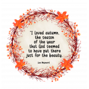 Autumn Wreath with Maynard Quote