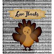 Give Thanks Turkey Word Art
