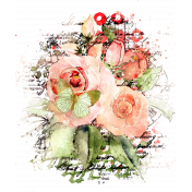 Artsy Watercolor Blandable Transfer 09