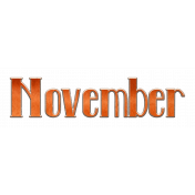 November Word Art Chipboard