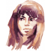 Watercolor Lady's Face