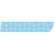 Baby its Cold Outside Blue Washi