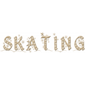 Baby Its Cold Outside Skating Word Art