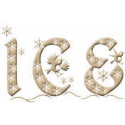 Baby Its Cold Outside Ice Word Art