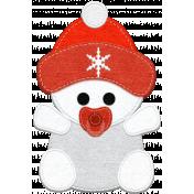 Winter Snow Mini Kit: Felt Snow Baby