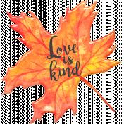 Fall in Love Mii Kit Leaf Word Art