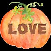 Fall in Love Mii Kit Carved Pumpkin Love