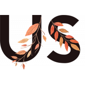 Fall in Love Mini Kit Word Art: Us