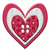 Love Story Heart Button