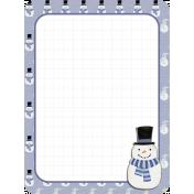 Winter Frost Journal Card 2