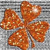Saint Patrick Glitter Shamrock 01