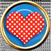 Valentine Mini Polka Dot Heart Brad