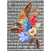 Valentine Mini Watercolor Chipboard Bouquet 1
