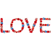 Valentine Mini Flowered Love Wordart