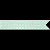 Delish Mini Kit Green Flower Patterned Tag