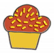 Delish Mini Kit Chipboard Muffin with Glitter Sprinkles