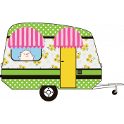 Retro Camper Kit Add On: Camper with Cat in the Window