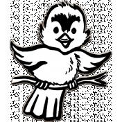 Dex Mini Kit Hand Drawn Bird Chipboard