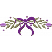 Chipboard Violet Wreath With Bow