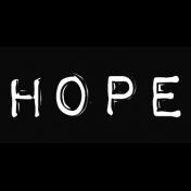 Hope Typewriter Embossed Sticker