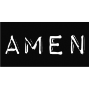 Amen Embossed Typewriter Word Art