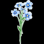 Blue & Yellow Watercolor Bouquet