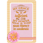 My Grace Is Sufficient Journal Card