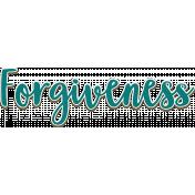 Forgiveness Script Word Art Chipboard