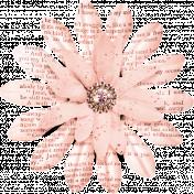 Rose Gold Newsprint Paper Flower