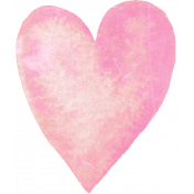 Lovely Pink Watercolor Heart