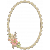 Floral Frame Chipboard 2