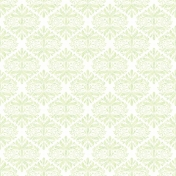 Green Ornate Pattern Paper