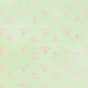 Pink and Green Ornate Patterned Paper