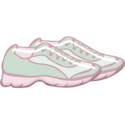 Pink and Green Sneakers