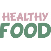 Healthy Food Word Art