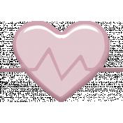 Heart Rate Heart Sticker