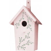 Pink and Green Floral Birdhouse