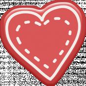Kumbaya Mini Kit Stitched Heart Sticker