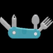 Kumbaya Mini Kit Pocket Utility Knife Sticker