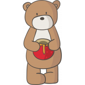 Kumbaya Mini Kit Teddy Bear with Honey Jar
