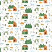 Kumbaya Mini Kit Mountainside House Patterned Paper