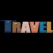 Around the World Mini Kit Travel Word Art