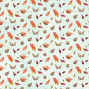 Autumn Mini Kit Leaves Pattern Paper