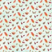 Autumn Mini Kit Leaves Pattern Paper