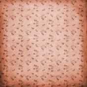 Autumn Mini Kit Watercolor Copper Flower Pattern Paper