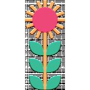 Scandinavian Element Chipboard Flower 1
