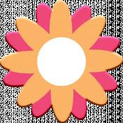 Scandinavian Element Chipboard Flower 3