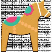 Scandinavian Element Chipboard Horse